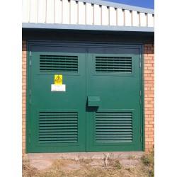 Louvered Steel Doors