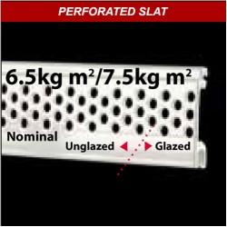 40mm Perforated Aluminium Laths