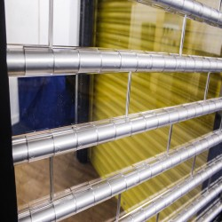 Transparent Clear View Security Shutters - 83% Vision