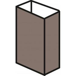 Aluminium 20mm x 50mm - Brown