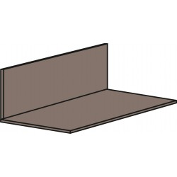 Aluminium 75mm x 25mm - Brown