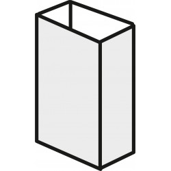 Aluminium 20mm x 50mm - Mill