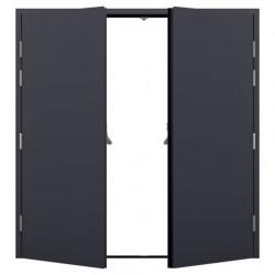 Double Steel Fire Exit Door