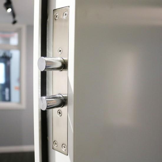 Louvred  Double Entry Door