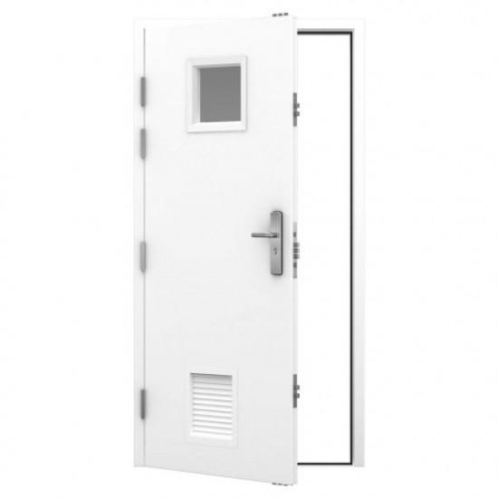 Louvred Fire Exit Door - Heavy Duty