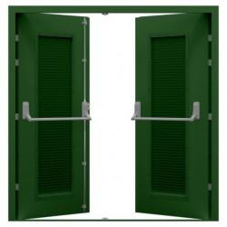 Louvred  Double Fire Exit Door