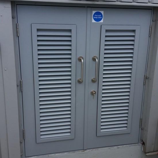 Louvred Steel Doors
