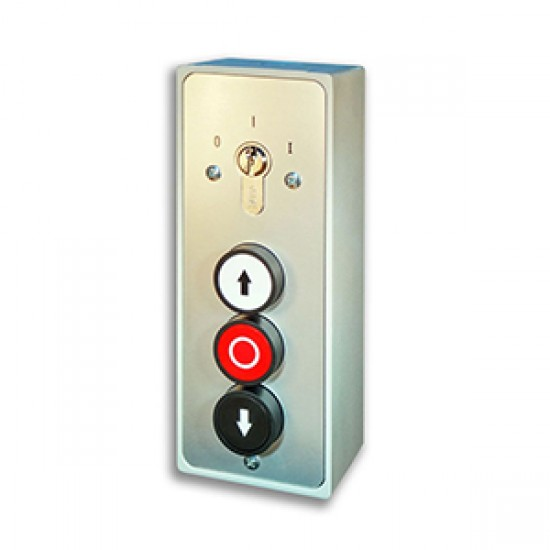 3 Push Button Station with Key Switch