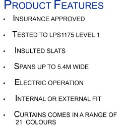 High Security Insulated Roller Shutter - LPS1175 Security Level 1