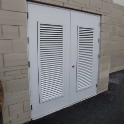 Louvred Steel Doors