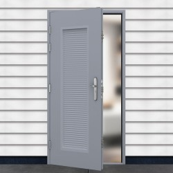 Louvred Entry Door - Medium Security