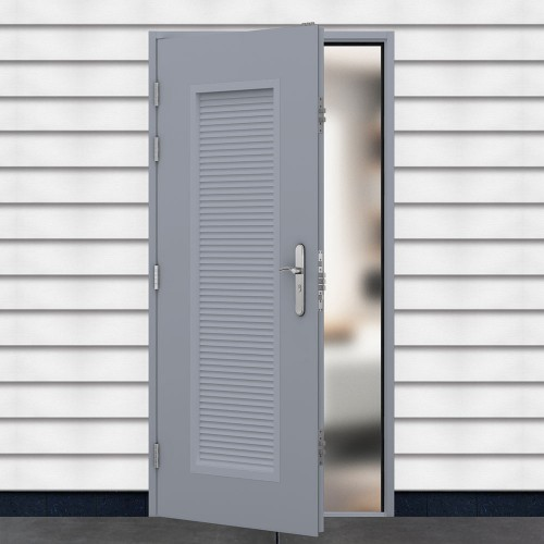 Stock Louvre Steel Doors