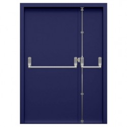 Double Steel Fire Exit Door