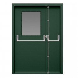 Glazed Double Fire Exit Door