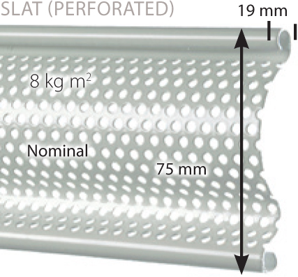Perforated Laths  Slat Version Provides 18% Vision.