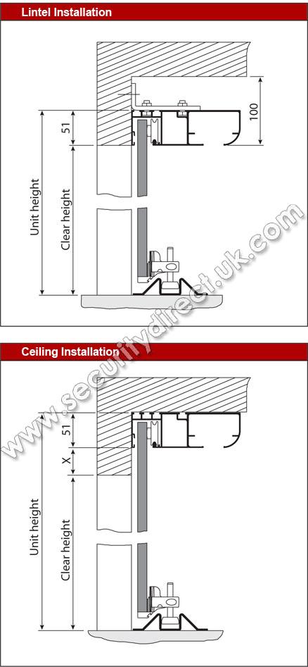 Vertico horizontal garage door security direct for Garage door horizontal track